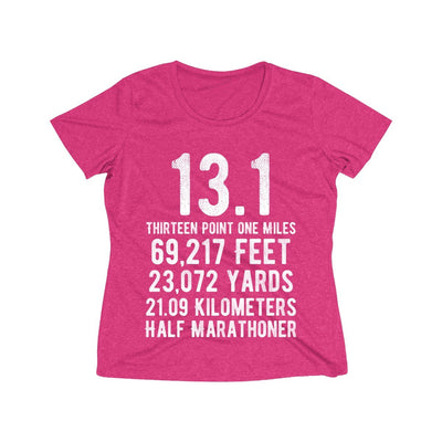 Half-Marathoner Women's Short Sleeve Tech Shirt T-Shirt Printify Sport Tek Pink Raspberry Heather XS