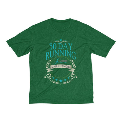 30 Day Running Challenge Men's Short Sleeve Tech Shirt T-Shirt Printify Sport-Tek Forest Green Heather XS