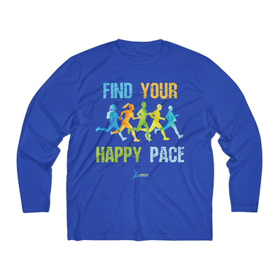 Find Your Happy Pace Men's Long Sleeve Tech Shirt Long-sleeve Printify Sport-Tek True Royal L