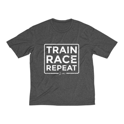 Train Race Repeat Men's Short Sleeve Tech Shirt T-Shirt Printify Sport Tek Graphite Heather XS