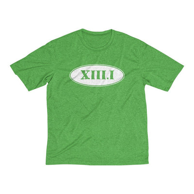 Half Marathon Roman Numeral Oval Men's Short Sleeve Tech Shirt T-Shirt Printify Sport-Tek Turf Green Heather XS