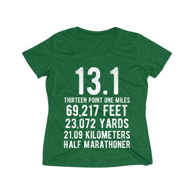 Half-Marathoner Women's Short Sleeve Tech Shirt T-Shirt Printify Sport Tek Forest Green Heather XS
