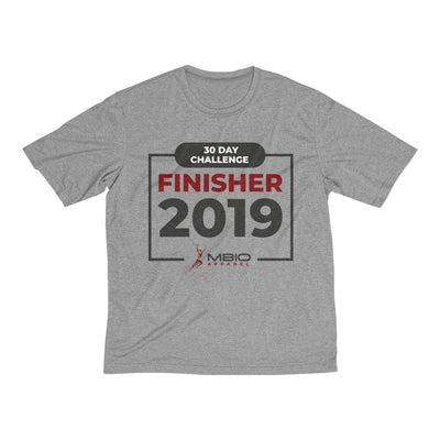2019 30 Day Challenge Finisher Men's Short Sleeve Tech Shirt T-Shirt Printify Sport Tek Vintage Heather L