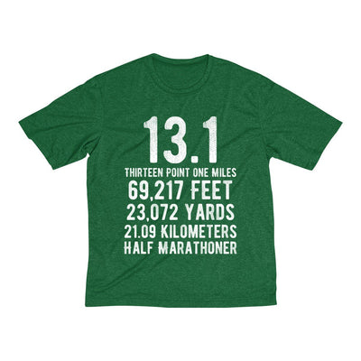 Half-Marathoner Men's Short Sleeve Tech Shirt T-Shirt Printify Sport Tek Forest Green Heather XS