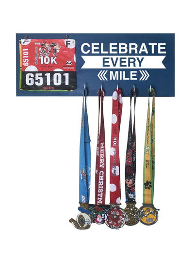 Celebrate Every Mile - Running Medal Display Running Medal Hanger Mbio Apparel Oceanside