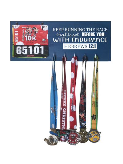 Hebrews 12:1 - Running Medal Display Running Medal Hanger Mbio Apparel Oceanside
