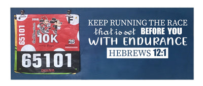 Hebrews 12:1 - Running Medal Display Running Medal Hanger Mbio Apparel