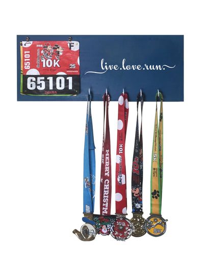 Running Medal Hanger - Live Love Run Running Medal Hanger Mbio Apparel Oceanside