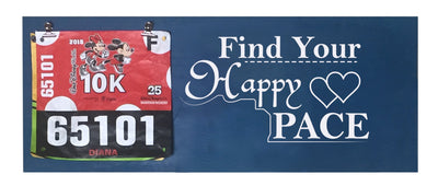 Find Your Happy Pace - Running Medal Display Running Medal Hanger Mbio Apparel