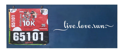 Running Medal Hanger - Live Love Run Running Medal Hanger Mbio Apparel