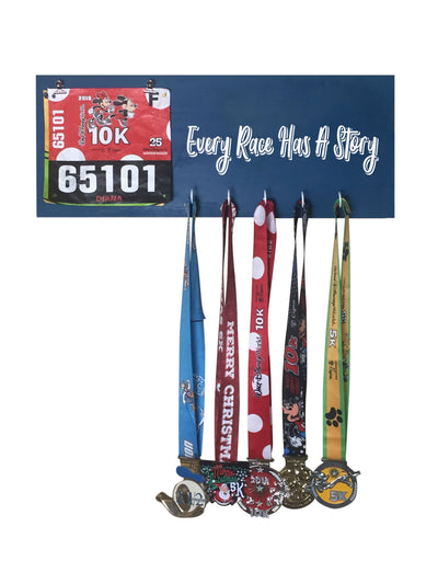 Every Race has a Story - Running Medal Display Running Medal Hanger Mbio Apparel Oceanside