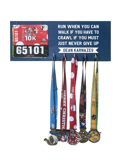 Run When You Can - Running Medal Display Running Medal Hanger Mbio Apparel Oceanside