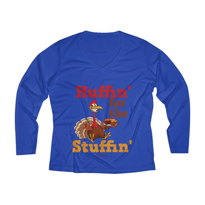Huffin' for the Stuffin' Women's Long Sleeve Tech Shirt Long-sleeve Printify Sport-Tek True Royal XS
