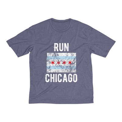 Run Chicago Men's Short Sleeve Tech Shirt T-Shirt Printify Sport Tek True Navy Heather XS