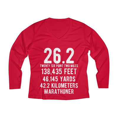 Marathoner Women's Long Sleeve Tech Shirt Long-sleeve Printify Sport Tek True Red XS