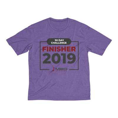 2019 30 Day Challenge Finisher Men's Short Sleeve Tech Shirt T-Shirt Printify Sport Tek Purple Heather XS