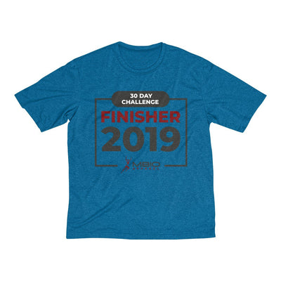 2019 30 Day Challenge Finisher Men's Short Sleeve Tech Shirt T-Shirt Printify Sport Tek Blue Wake Heather XS