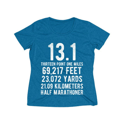 Half-Marathoner Women's Short Sleeve Tech Shirt T-Shirt Printify Sport Tek Blue Wake Heather XS