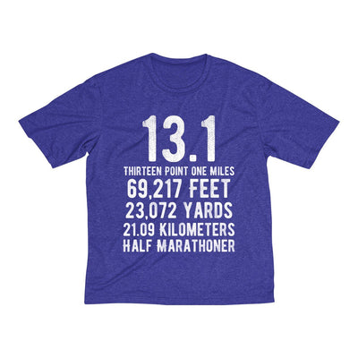 Half-Marathoner Men's Short Sleeve Tech Shirt T-Shirt Printify Sport Tek Cobalt Heather XS