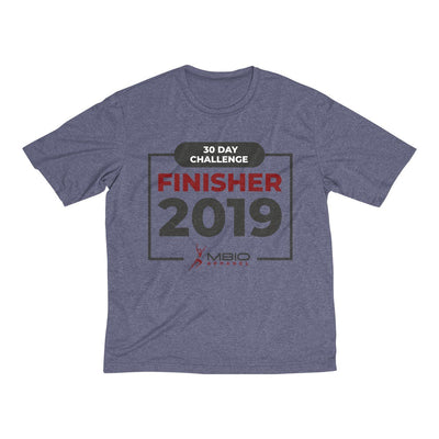 2019 30 Day Challenge Finisher Men's Short Sleeve Tech Shirt T-Shirt Printify Sport Tek True Navy Heather XS