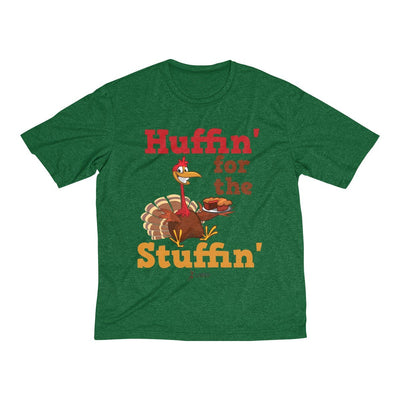 Huffin' for the Stuffin' Men's Short Sleeve Tech Shirt T-Shirt Printify Sport-Tek Forest Green Heather XS