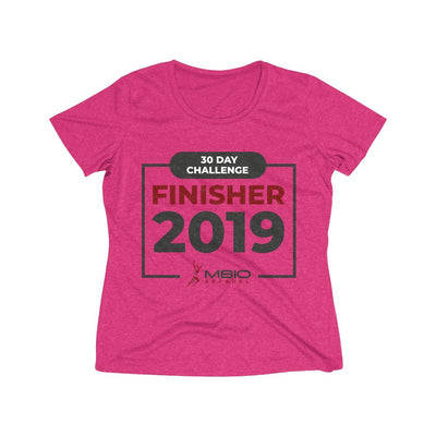 2019 30 Day Challenge Finisher Women's Short Sleeve Tech Shirt T-Shirt Printify Sport Tek Pink Raspberry Heather XS