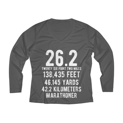 Marathoner Women's Long Sleeve Tech Shirt Long-sleeve Printify Sport Tek Iron Grey L