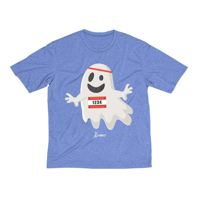 Happy Ghost Runner Halloween Men's Short Sleeve Tech Shirt T-Shirt Printify Sport-Tek True Royal Heather XS