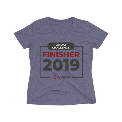 2019 30 Day Challenge Finisher Women's Short Sleeve Tech Shirt T-Shirt Printify Sport Tek True Navy Heather XS