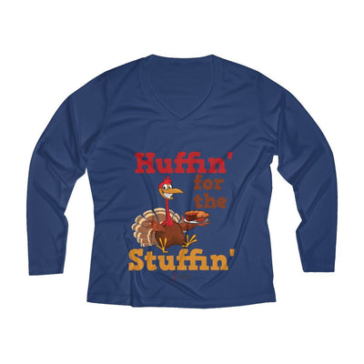 Huffin' for the Stuffin' Women's Long Sleeve Tech Shirt Long-sleeve Printify Sport-Tek True Navy XS