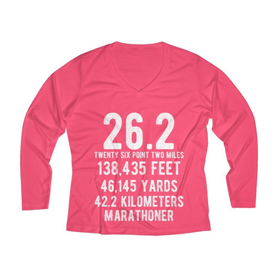 Marathoner Women's Long Sleeve Tech Shirt Long-sleeve Printify Sport Tek Hot Coral XS