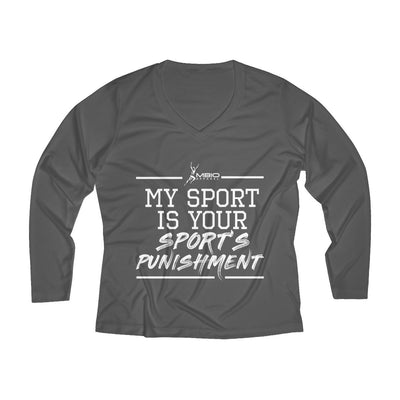My Sport Is Your Sport's Punishment Women's Long Sleeve Tech Shirt Long-sleeve Printify Sport Tek Iron Grey L