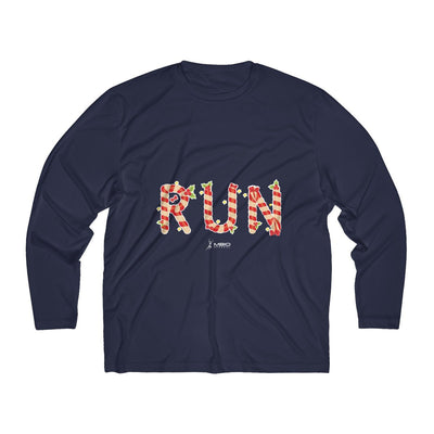 Festive Run Men's Long Sleeve Tech Shirt Long-sleeve Printify Sport-Tek True Navy XS
