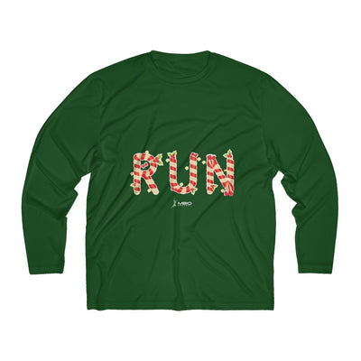 Festive Run Men's Long Sleeve Tech Shirt Long-sleeve Printify Sport-Tek Forest Green XS