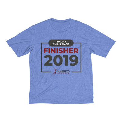 2019 30 Day Challenge Finisher Men's Short Sleeve Tech Shirt T-Shirt Printify Sport Tek True Royal Heather XS