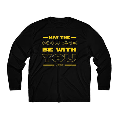 May The Course Be With You Men's Long Sleeve Tech Shirt Long-sleeve Printify Black L