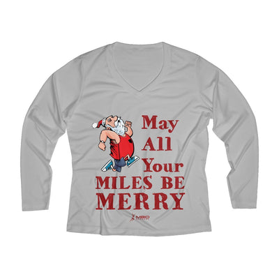May All Your Miles be Merry Women's Long Sleeve Tech Shirt