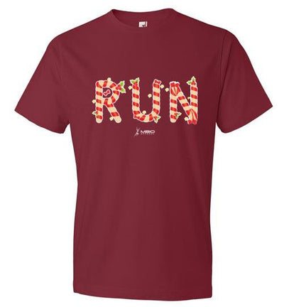 Festive Run T-Shirt T-Shirt Mbio Apparel Anvil Independence Red S