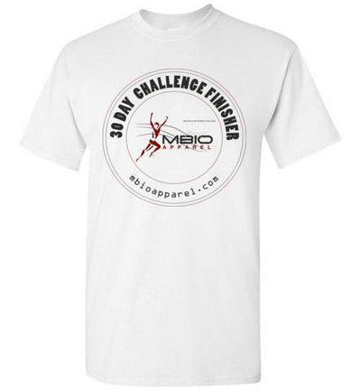 30 Day Challenge Finisher T-Shirt T-Shirt Mbio Apparel Gildan White S