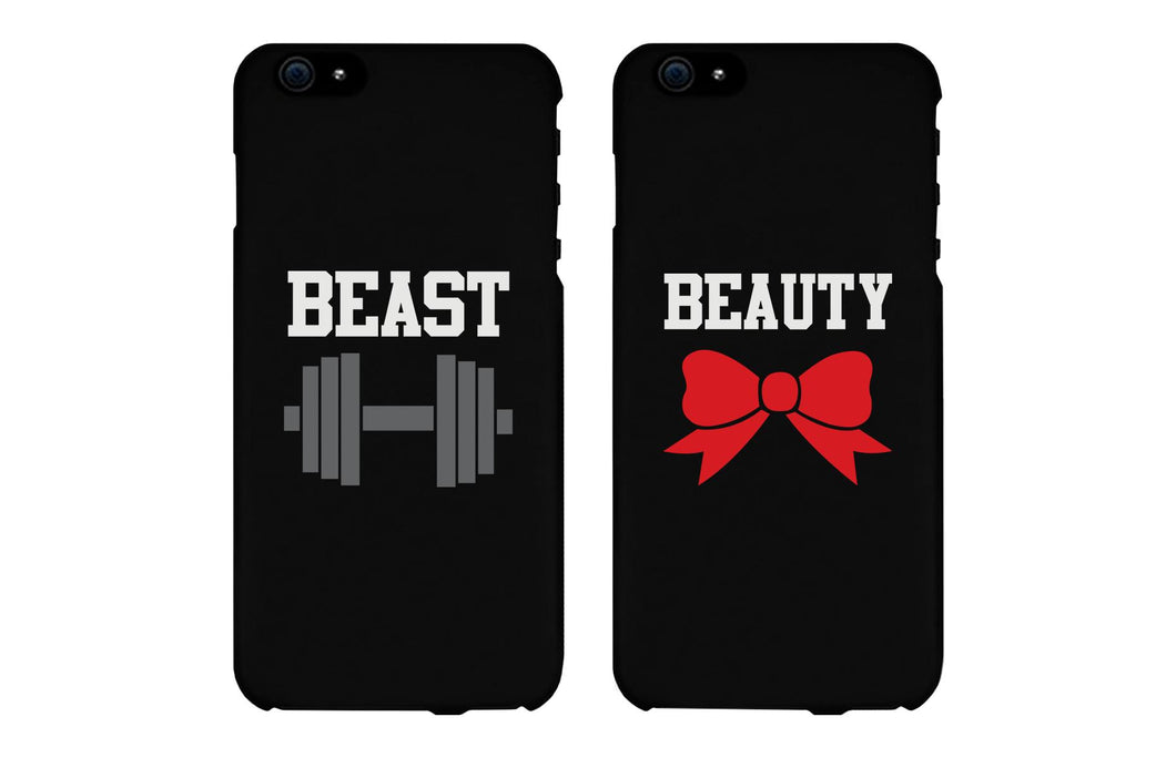 Beauty & Beast Matching Couple Black Phonecases (Set)