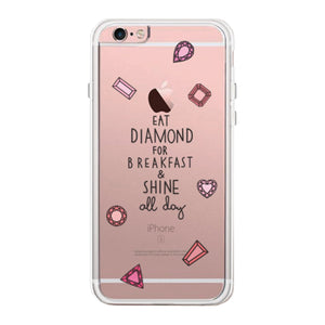 Diamond For Breakfast Phone Case Cute Clear Phonecase