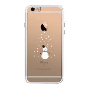 Snowing Snowman Phone Case Cute Clear Phonecase
