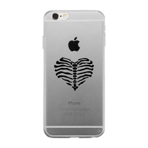 Skeleton Heart Clear Phone Case