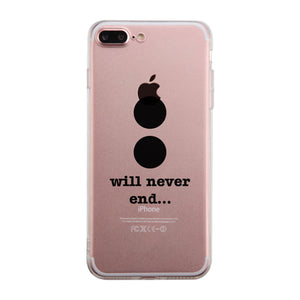 Will Never End-Right Clear Phone Case