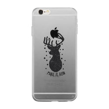 Make It Rein Vintage Reindeer Clear Phone Case