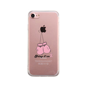 Bring It On Breast Cancer Awareness Boxing Clear Phone Case