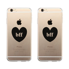 Bff Hearts Clear Phone Case