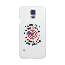 Land Of The Free Home Of The Pizza White Phone Case
