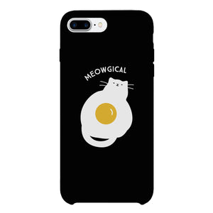 Meowgical Cat And Fried Egg Black Phone Case