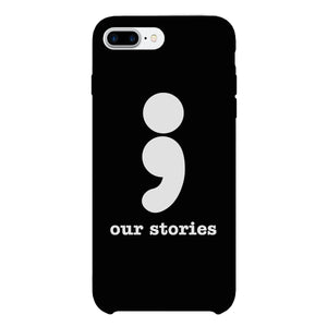 Our Stories-Left Black Phone Case